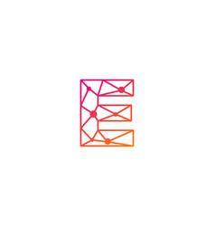 E letter network logo icon design vector
