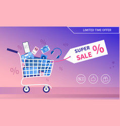 Electronics and devices promotional sale banner vector