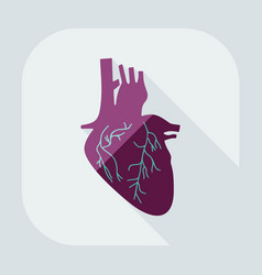 Flat modern design with shadow icons heart vector