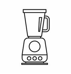 Food processor mixer blender icon outline style vector image