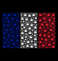 France flag collage of cannabis items vector