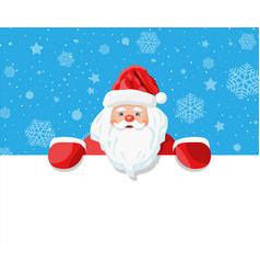 funny santa claus character greeting vector image