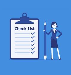 giant check list vector image