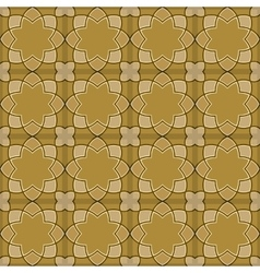 Gorgeous Seamless Arabic Tile Pattern Design vector image
