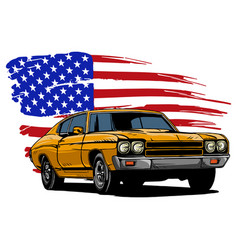 graphic design of an american vector image