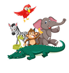 group of wild animals vector image
