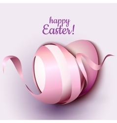 Happy Easter greeting card template with eggs and vector