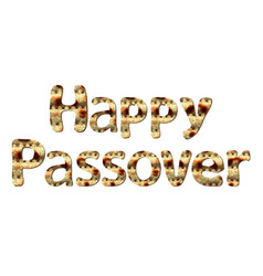 Happy passover greeting inscription of letters vector