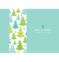 Holiday Christmas trees horizontal seamless vector image
