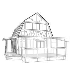 house sketch rendering of 3d vector image