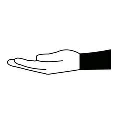 Human hand support help gesture image vector
