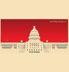 Image us capitol building in washington dc vector