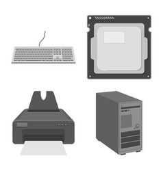 Isolated object of laptop and device sign vector