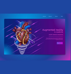 Isometric banner augmented reality in medicine vector