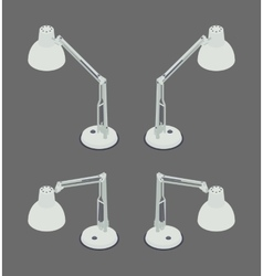 Isometric desk lamp vector