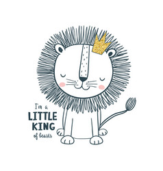 little king vector image