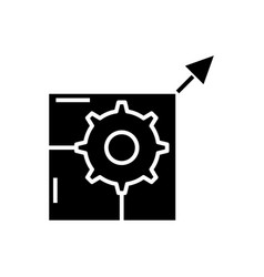 Nesessary changes black icon concept vector