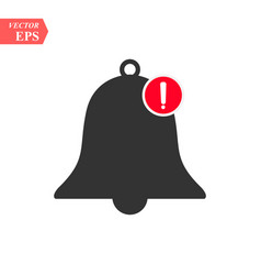 new notification icon hand bell sign isolated on vector image
