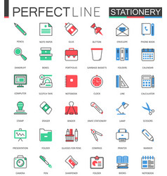 office stationery modern flat line design vector image