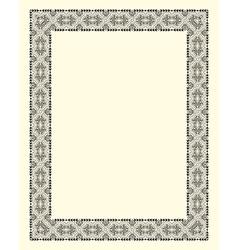 Ornamental frame vintage vector
