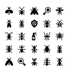 Pest control icon pack vector