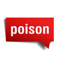 poison red 3d speech bubble vector image