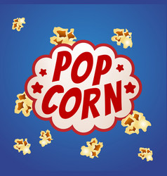 Pop corn sign logo vintage poster vector