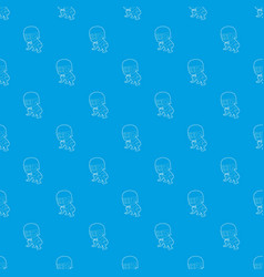 protecting player pattern seamless blue vector image