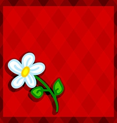 Red diamonds and daisy vector image