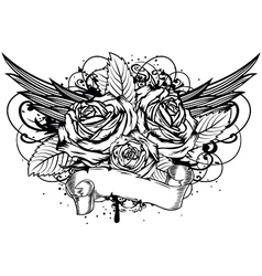 roses wings vector image