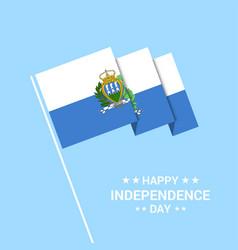 San marino independence day typographic design vector