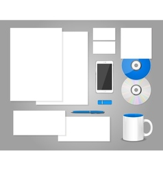 Set of templates corporate identity vector image