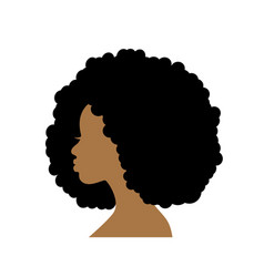 silhouette head an african woman in profile vector image