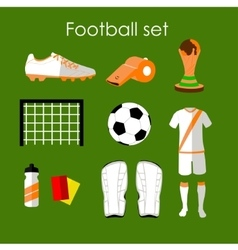 Soccer icons set Football isolated design vector image