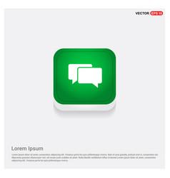 speech bubbles icon green web button vector image
