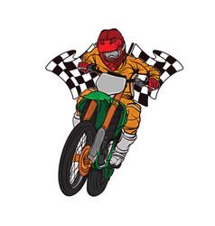 Supermoto racing design logo vector