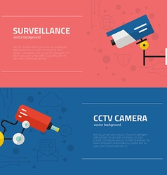 Surveillance Graphic Elements vector