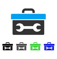 Toolbox flat icon vector