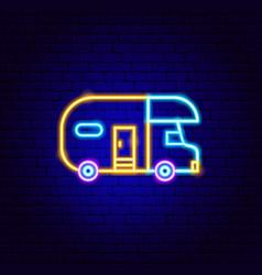 Trailer neon sign vector
