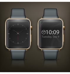 Two smart watch vector image