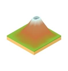 Volcano icon cartoon style vector image