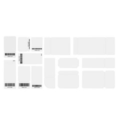 white blank tickets template realistic ticket vector image