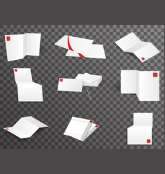 white paper template set different points view vector image