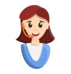 woman call center icon cartoon style vector image