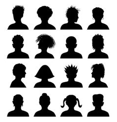 16 anonymous mugshots vector image