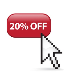20 Off Button Click vector image vector image
