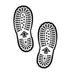 Shoe print vector image vector image