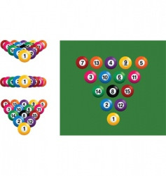 snooker or pool balls vector image vector image