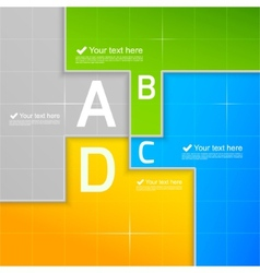 Abstract template for infographic vector image
