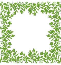 Background frame of green leaves vector image